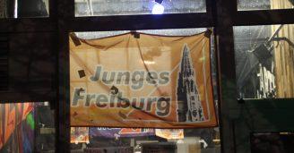 Die Junges Freiburg-Flagge zierte das Freizeichen!
